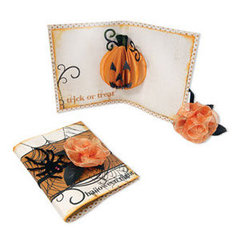 Trick or Treat Pumpkin Pop Up Card by Beth Reames