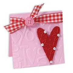 Embossed I Love You Heart Card #2 by Deena Ziegler