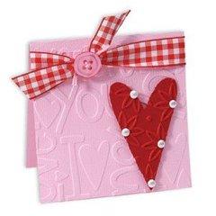 Embossed I Love You Heart Card #2 by Deena Ziegler