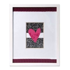 Embossed Hearts & Dots Frame by Deena Ziegler