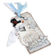 Tim Holtz Wish Snowman Tag