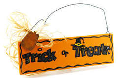 Trick or Treat Sign by Debbie Adams