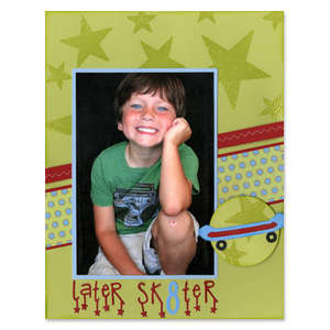 Later Sk8ter Scrapbook Page
