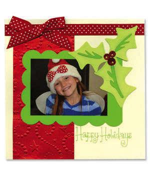 Happy Holidays Scrapbook Page - Cara Mariano