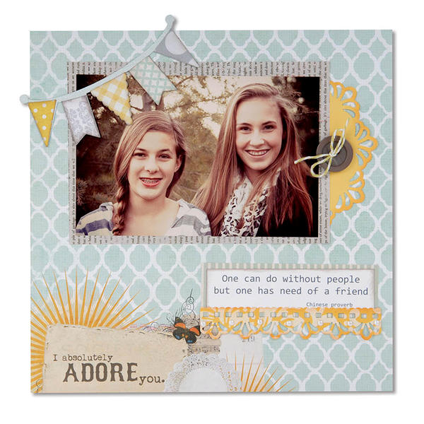 I Absolutely Adore You featuring new Sizzix Thinlits Dies