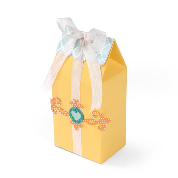 Heart Gift Bag featuring new Sizzix Thinlits Dies