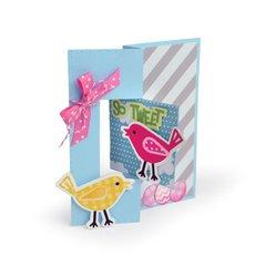 Spring Birds Triplits Card