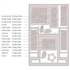 15 pc Sizzix Step-Up Card Die Set - Cute as a Bug