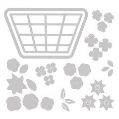 New 10pk Sizzix Thinlit Die Set - Flower Basket