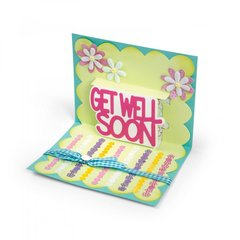 Get Well Soon Drop-in can be added to any Drop-n Card Base