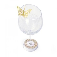 Wine Glass Charm & Butterfly by David Tutera