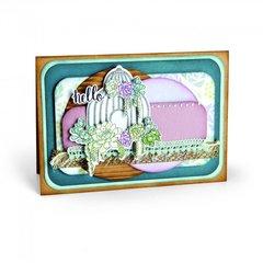 Hello Succulent Birdcage Card