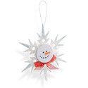 Snowman Snowflake Ornament - Debi Adams