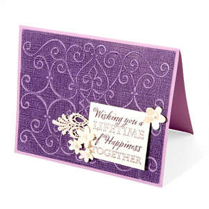 Scrollmark Embossed Wedding Card by Beth Reames