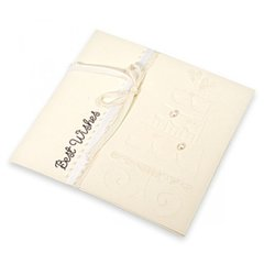 Embossed Best Wishes Wedding Cake Card