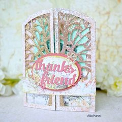 Thanks Friend by Aida Haron for Sizzix