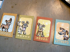 Crazy Dog Tags from Audrey Pettit for Sizzix