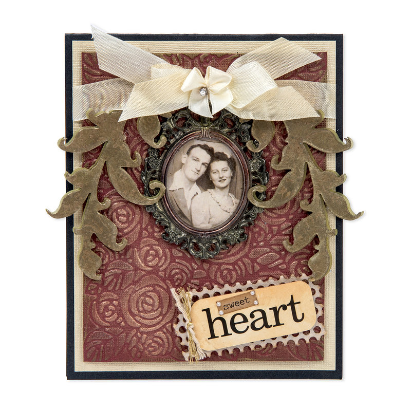 Heirloom Card featuring Tim Holtz Scroll Die from Sizzix