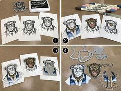 How To:  Tim Holtz Hipster Chimp