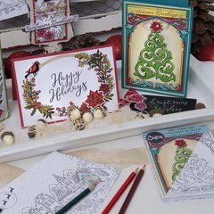 Christmas In Color.Sizzix Christmas In Color Seasonal Sentiments Stamps