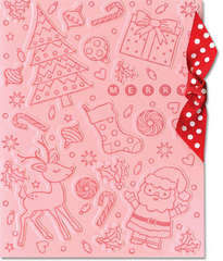 Embossed Holiday Card by Lisa Spangler