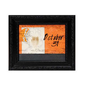 Embossed Oct 31st Owl Frame by Cara Mariano