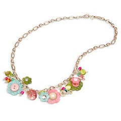 Flower Charm Necklace by Beth Reames