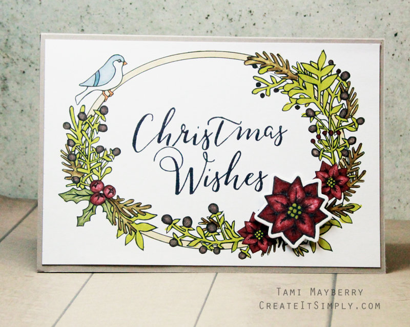 Start Your Christmas Making With This Quick Card DIY by Tami Mayberry for Sizzix