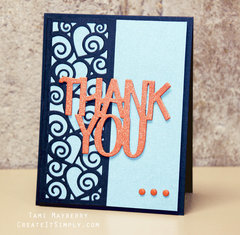 Thank You by Tami Mayberry for Sizzix