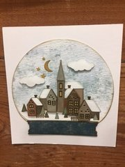 Winter Village Snowglobe Card