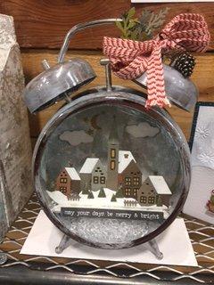 Winter Village Clock
