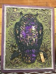 Halloween Card featuring Tim Holtz Ornate Owl Thinlits Die