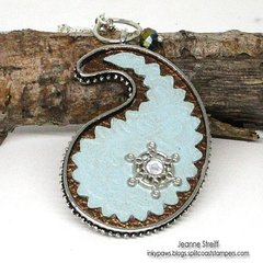 DIY Jewelry - The Perfect Paisley Pendant by Jeanne Streiff for Sizzix