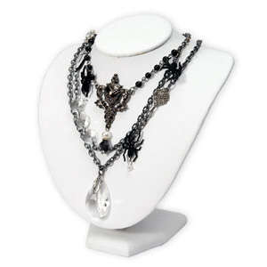 Necklace with Spider Charms by Beth Reames