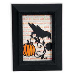 Pumpkin & Crow Frame by Beth Reames