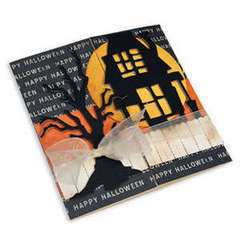 Rickety House & Scary Tree Card by Debi Adams