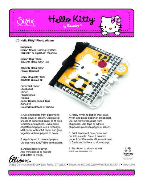 Hello Kitty Photo Journal