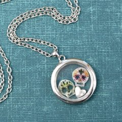 This Sugar Skull Memory Locket Is A Perfect Saturday DIY! by Adrianne Surian for Sizzix