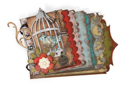 Caged Bird Mini Album by Tim Holtz