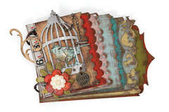 Caged Bird Mini Album by Tim Holtz