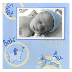 Sweet Baby Boy Scrapbook Page