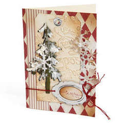Be Merry Pine Tree Card by Debi Adams