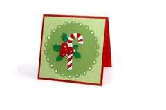Candy Cane Scallop Card - Deena Ziegler