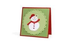 Snowman Scallop Card - Deena Ziegler