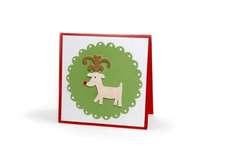 Reindeer Scallop Card - Deena Ziegler
