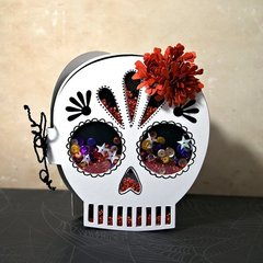 Celebrate Dia de los Muertos With This Sweet Sugar Skull Shaker! by Jan Hobbins for Sizzix