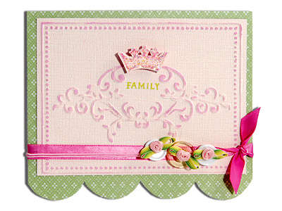 Embossed Family Card by Cara Mariano