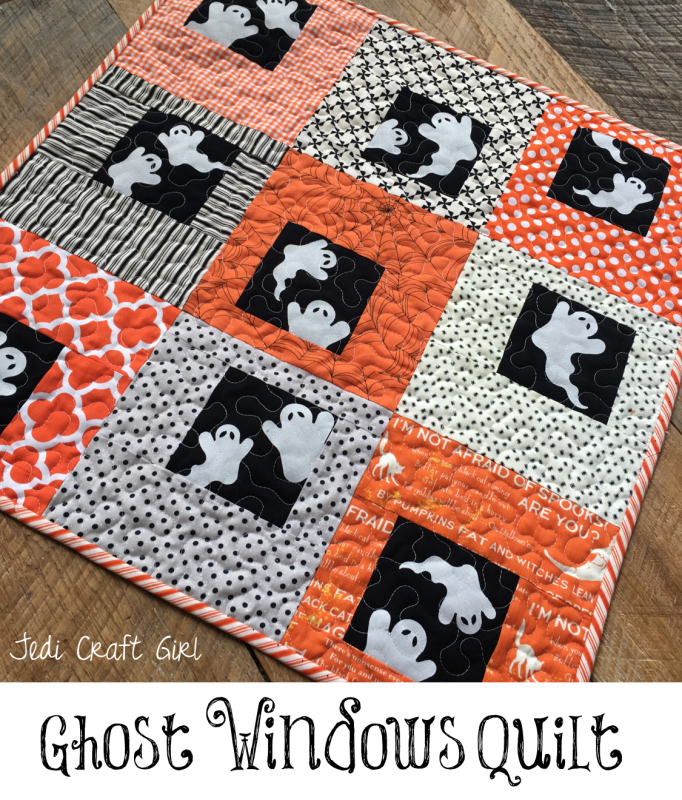 This Ghost Window Quilt is Halloween Perfection!