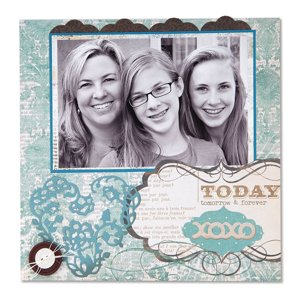 Today, Tomorrow, and Forever Scrapbook Page by Deena Ziegler