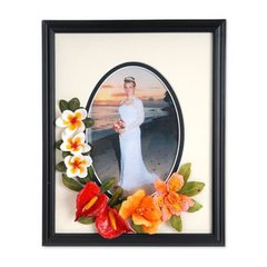 Tropical Flowers Wedding Frame by  Susan Tierney-Cockburn